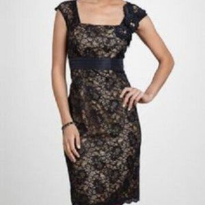Km Collections by Milla Bell Black Nude Lace Dress